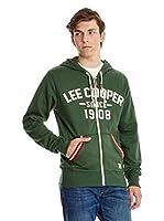 Lee Cooper Sudadera con Cierre Frant (Verde)