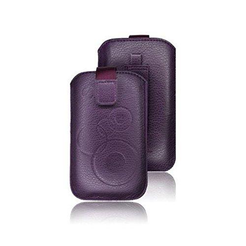 tag-24 Schutzhülle Slider Deko Etui Handytasche Cover passend für Sony Xperia Pro /mk16i lila
