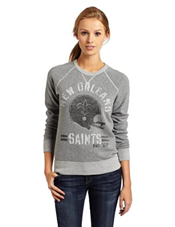 NFL New Orleans Saints Heather Vintage French Terry Raglan Ladies by Junk Food