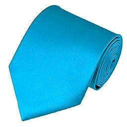 AimTrend Men\'s Neckties Elegant-Turquoise Blue