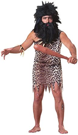 Rubie's Costume Haunted House Collection Caveman Costume, Brown, One Size