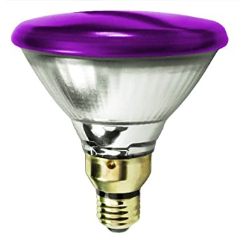 Sylvania 14577 7 90 Watt Halogen Light Bulb Par38 Flood Purple 2 500 Life Hours 1