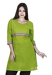Eessence Women's Cotton Kurta (MCK03_MGR_L, Green, L)
