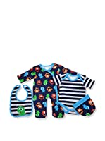 Pitter Patter Baby Gifts Conjunto (Azul Oscuro)