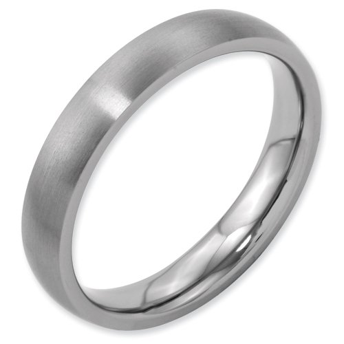 Titanium 4mm Brushed Band Ring Size 14.5 Real Goldia Designer Perfect Jewelry Gift for Christmas