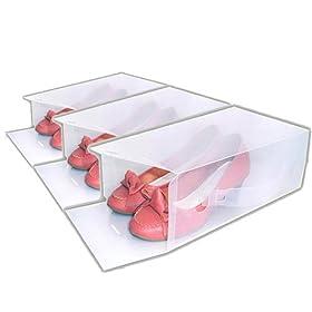 Scarpe 3 x scatola porta scarpe uomo donna salvaspazio - Scatole porta scarpe ...