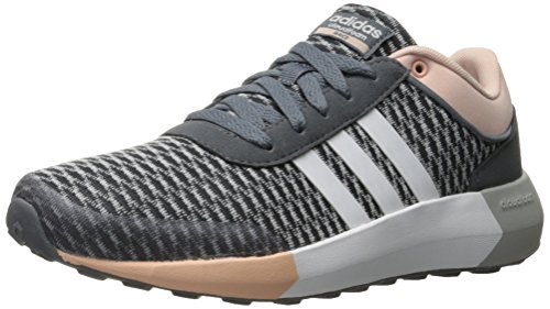 Adidas NEO Women's Cloudfoam Race W Running Shoe, Onix/White/Vapor Pink F16, 8.5 M US