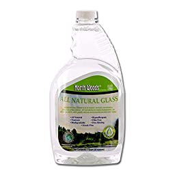 North Woods Ultra Green All Natural Glass - Glass & Surface Cleaner (Pack of 12)