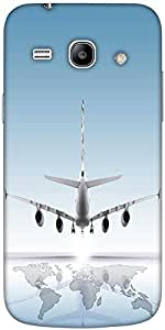 Snoogg Aircraft Landing On The Earth Solid Snap On - Back Cover All Around Pr...