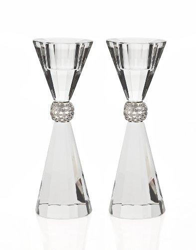 Godinger Palazzo Bling Crystal Taper Candle Holder Set of 2