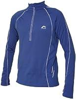 Mens More Mile Long Sleeved Alaska Thermal Hi-Viz Blue running top