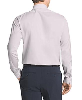 Calvin Klein Men's Non-Iron Solid Herringbone Shirt