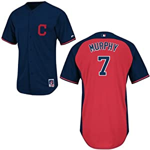 David Murphy Cleveland Indians Navy Batting Practice Jersey by Majestic by Majestic