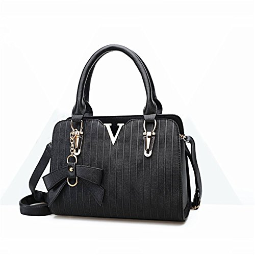 B-B Ladies Classical Embossed Design Brand Fan Top-handle Bag