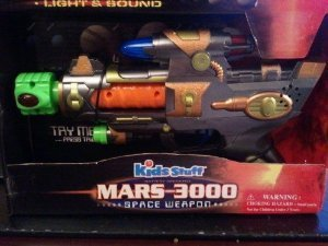 MARS 3000 KIDS STUFF NEW NIB SPACE WEAPON TOY GUN LIGHT SOUND VIBRATION KIDS 4+ (Space Weapons Toys compare prices)