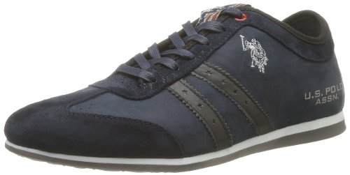 US Polo Assn Mens Denzel 1 Leather Trainers