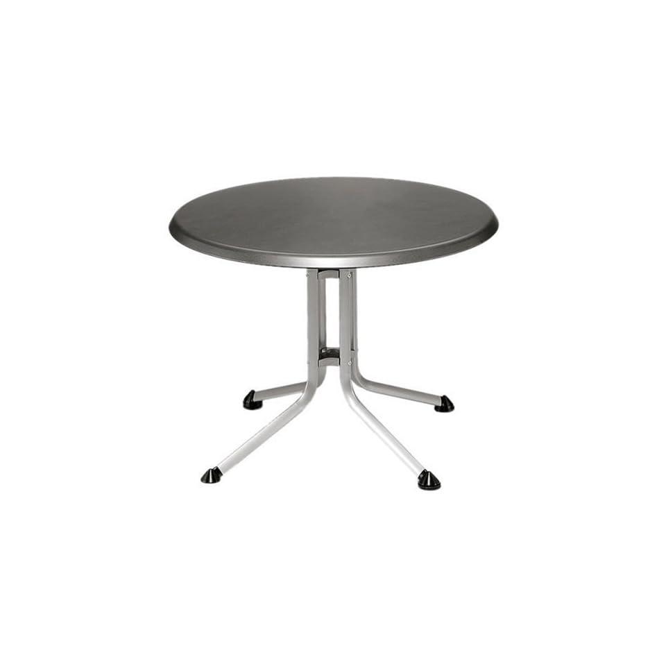 Kettler Tisch Rund.Kettler Tisch 115 Cm Silber Eisengrau Alu Klapptisch Rund
