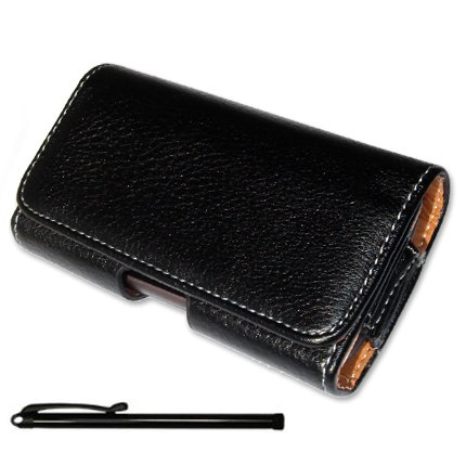 First2savvv Top quality black slide open leather case for HTC Sensation + stylus pen (yt002z)