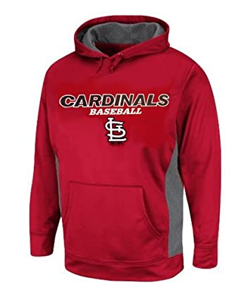 Majestic Mens St. Louis Cardinals Performance Hoodie, Big and Tall by Majestic