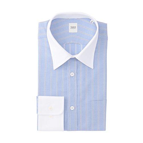 (タケオ キクチ)TAKEO KIKUCHI ストライプストレッチシャツ ブルー(392) 04(LL)