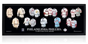 Philadelphia Phillies Uniform Art Print Poster: A Life Long Love Affair (Framed) by Heritage Uniforms and Jerseys Artwork