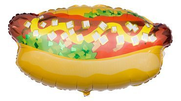 Jumbo Mylar Hot Dog Party Supplies Balloon