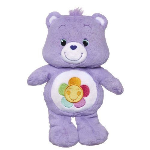 Care Bears - Dark Purple Flower - A1577 - Harmony Bear (Dispatched From Uk)