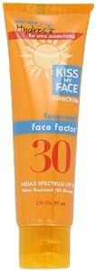 Kiss My Face Face Factor Sun Screen for Face and Neck, SPF 30, 2 Ounce Tube
