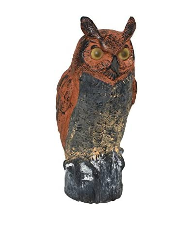 Uptown Down Vintage Outdoor Owl Sculpture, Black/Rust