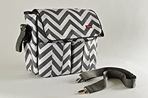 Easy-to-carry Stylish, Multi-pocket, Chevron Diaper Bag for Baby Stroller - By Lukling™ by Lukling™