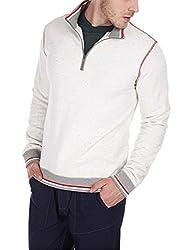 Zobello Men's Sweatshirt (51007A_Heather White_Small)