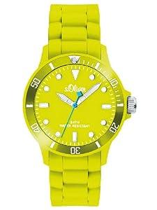 s.Oliver Unisex-Armbanduhr Medium Size Silikon Neon Gelb SO-2331-PQ