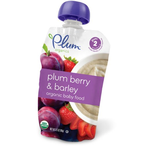 Plum Organics Second Blends Plum, Berry & Barley (6x3.5oz)