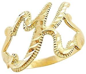 K Letter In Diamond Ring Initial Letter Ring   K