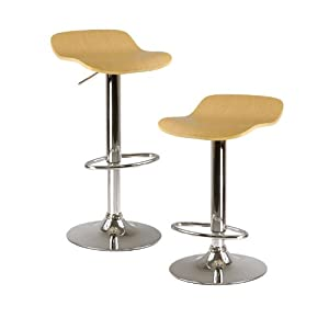 Winsome Wood Kallie Air Lift Adjustable Bar Stool ( Set of)2