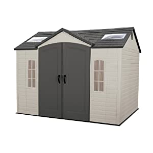 Lifetime 60005 8 by 10 foot outdoor storage for 300 square foot shed
