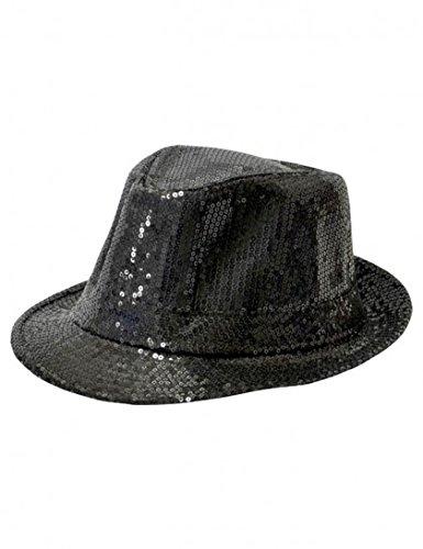 Borsalino Disco à Paillettes Noir