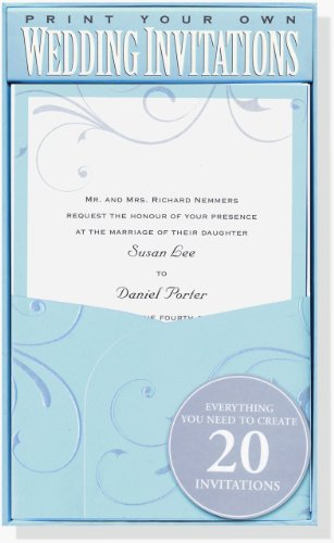 Blue Elegance Wedding Invitation Kit (Stationery, Imprintables Invite Kit)