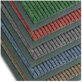 "NoTrax T39 Bristol Ridge Scraper Carpet Mat, for Wet and Dry Areas, 3' Width x 20' Length x 3/8"" Thickness, Slate Blue"