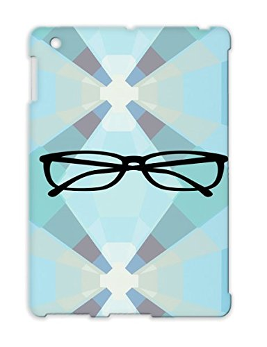 Clever Intelligent Wearing Nerd Computer Glasses Reading Geek Smart Eyes Black Tpu For Ipad 2 Protective Hard Case