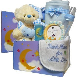 Art of Appreciation Gift Baskets Twinkle Twinkle Little Star New Baby Care Package Gift Box, Boys