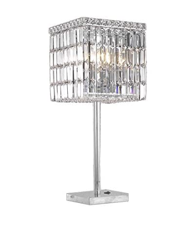 Crystal Lighting Maxim Collection Table Lamp, Chrome