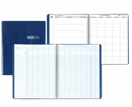 House of Doolittle Class Record/Lesson Planner, 8.5 x 11 Inch 35 names, 9-10 week grading, 40-week lesson and more (HOD51607)