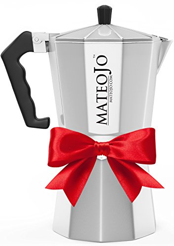 Stovetop Espresso Maker - Italian Moka Pot - Cafetera - Cuban Coffee Machine - 9 Cups by MateoJo ... (Pocket Coffee Maker compare prices)