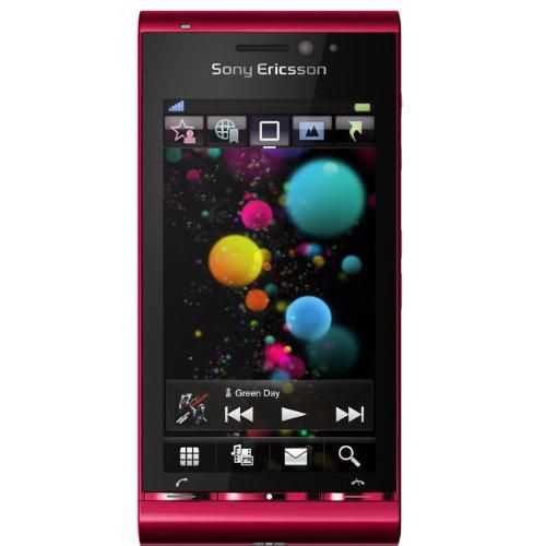 Sony Ericsson Satio Smartphone (UMTS, Wi-Fi, aGPS, 12.1 MP, Xenon Blitz) bordeaux