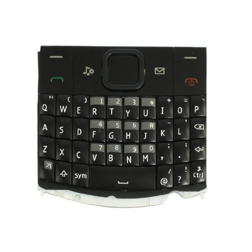 Function Key Replaceable Keyboard Keypad Black For Nokia X2-01
