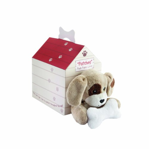Baby Aspen Patches Plush Puppy Lovie in Adorable Dog House Gift Box