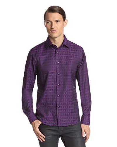 TR Premium Men's Long Sleeve Slim Fit Jacquard Sport Shirt