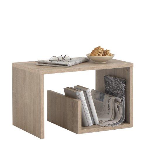 FMD Möbel 632-001 Tavolino d'appoggio Mike (L x A x P:) 59 x 38 x 36 cm, in legno di quercia