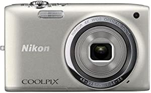 Nikon COOLPIX S2700 16 MP Digital Camera with 6x Optical Zoom and 720p HD Video (Silver)
